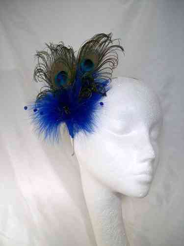 Victoriana Burlesque Style Peacock Feather Fascinator - Custom Order
