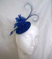 Royal Blue Diana Lace Fascinator