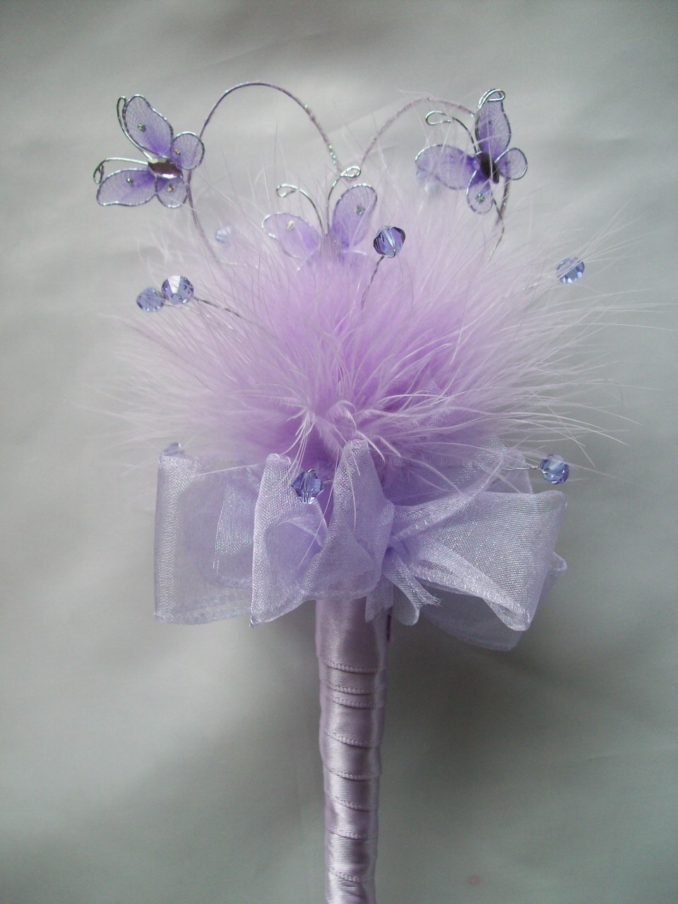 Custom Made Wire Heart Feather Amp Crystal Wedding Fairy Wands