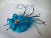 Turquoise Blue & Teal Fascinators