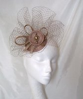 *Nude Latte & Gold Fascinators