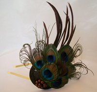 Peacock Feather Fascinators