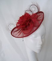 *Red & Burgundy Fascinators