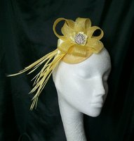 Yellow Fascinators
