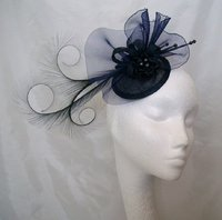 Navy Blue Fascinators