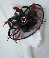 Burgundy Wine Fascinators