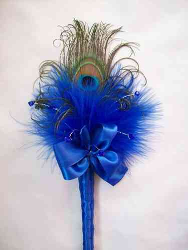 Royal Blue Peacock Wand