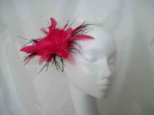 Suki Feather Flower Fascinator - Custom Order