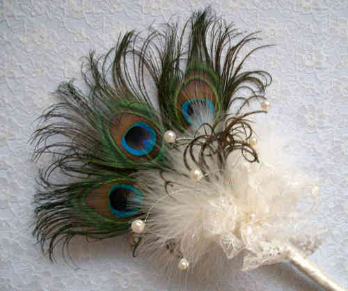 Peacock Feather Mini Bouquet