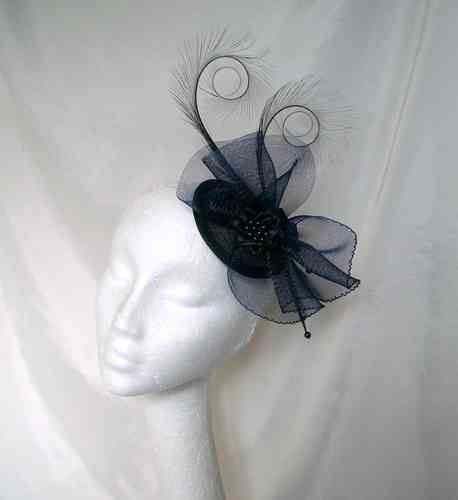 Matilda - Curl Feathers with Crinoline Bow