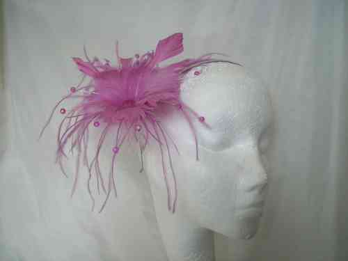 Lavender Suki Feather Flower Fascinator