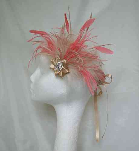 Multicoloured Anna Mixed Feather Vintage Style Flapper Band - Custom Order