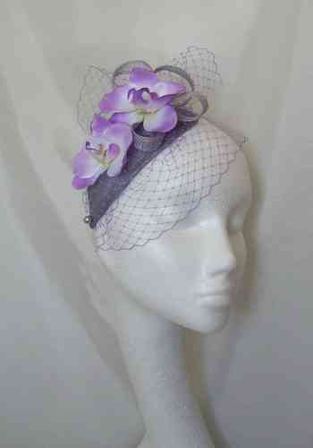 Charlotte - Vintage Teardrop Style with Orchids and Veil