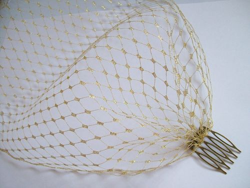 Metallic Gold Russian Bandeau Veil