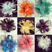 sinamay loop clips indigo daisy weddings