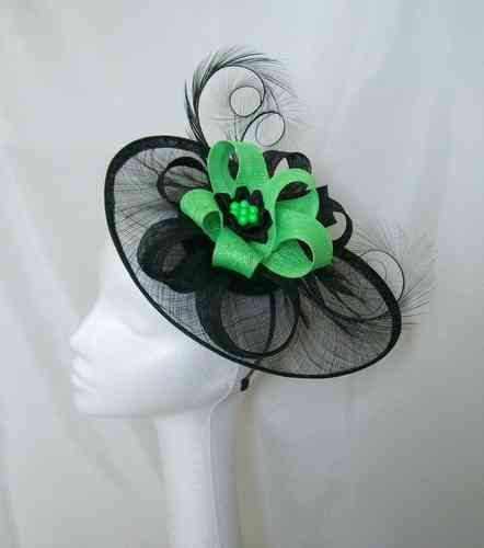 Fluorescent Lime Green and Black Cecily