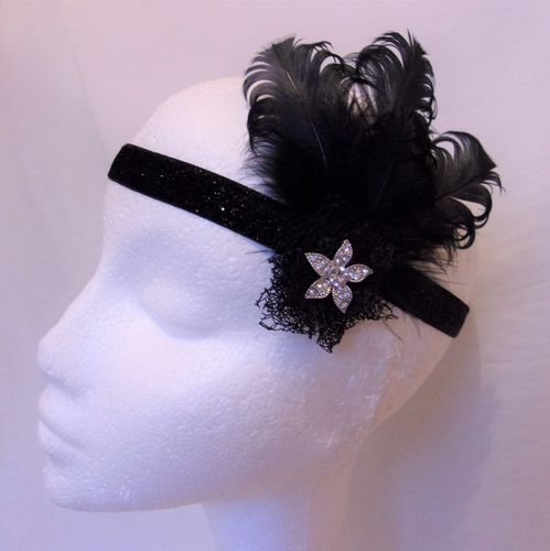 Black Grace Flapper Headband
