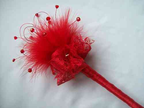 Heart and Feather Flower Girl Wedding Fairy Wands