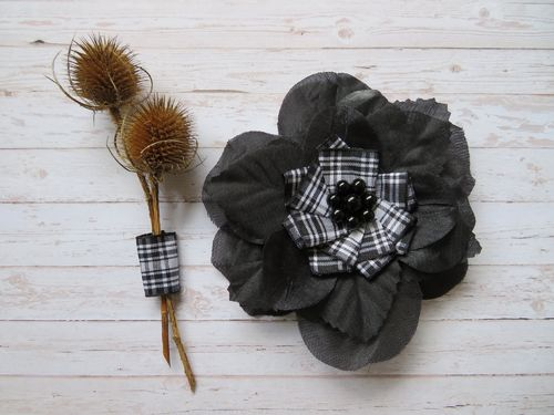 Black Rose Menzies Penny Blossom Brooch