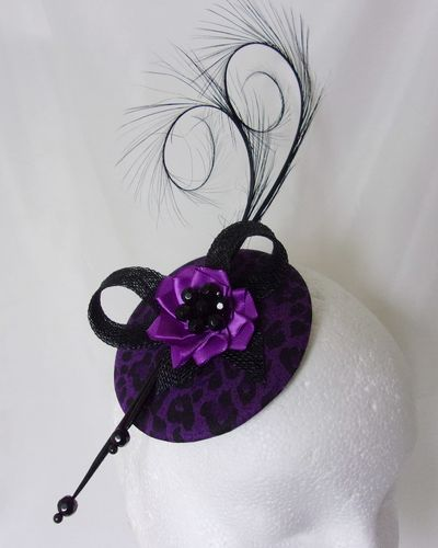 Purple and Black Leopard Print Isadora