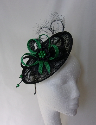 Emerald Green and Black Pamela