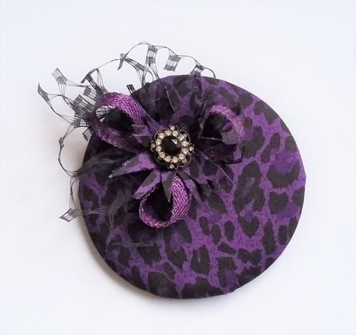 Purple & Black Leopard Print Emma