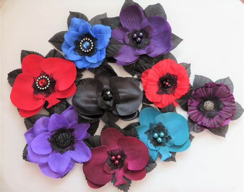 Gothic Jewels Vintage Hair Flowers