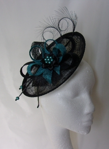 Teal and Black Pamela