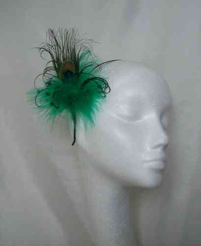 Mini Victoriana Peacock Feather Hair Comb