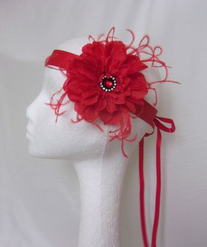 Red Penny Blossom Flapper Band