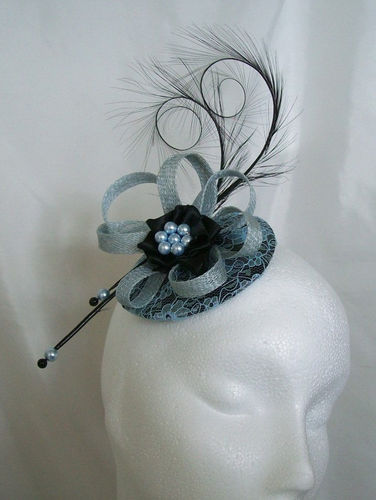 Pale Blue Lace and Black Isadora