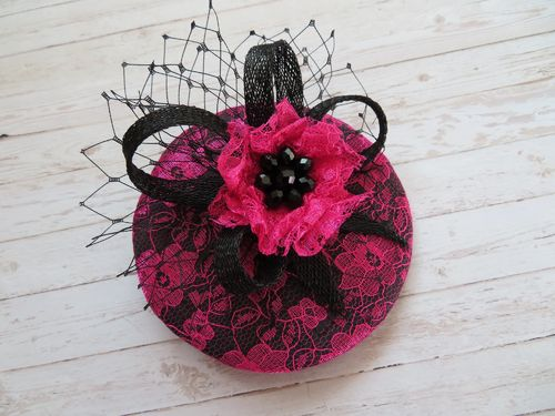 Cerise Pink & Black Lucy