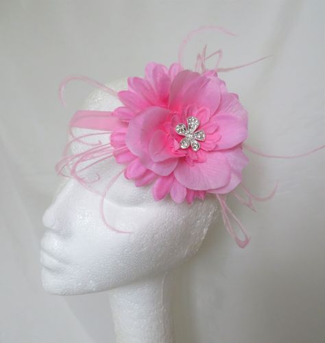 Hot Pink Rose Headband