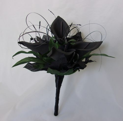 Black Calla Lily Posy - Ready Made