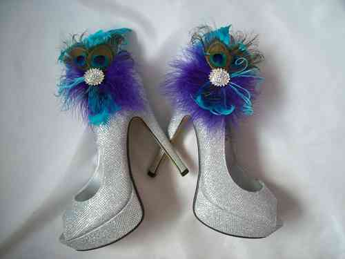 Custom Made to Order Feather Shoe Clips