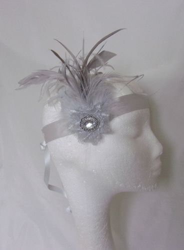 Silver Grey Ada Flapper Band