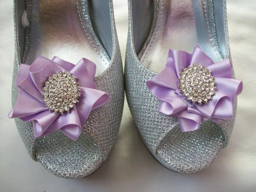 Ribbon Ruffle Shoe Clips