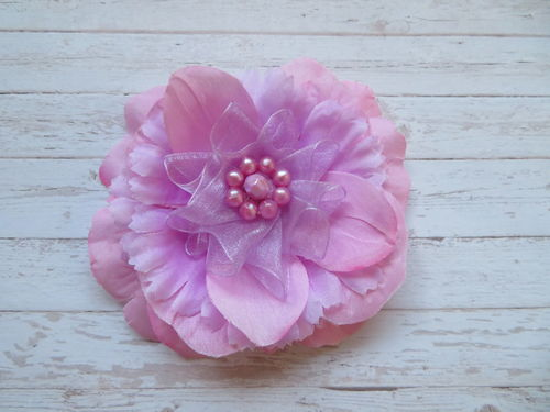 Pale Pink & Lavender Penny Blossom Brooch
