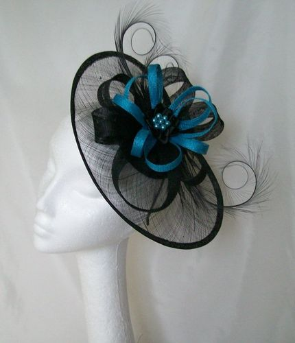 Turquoise Blue and Black Cecily