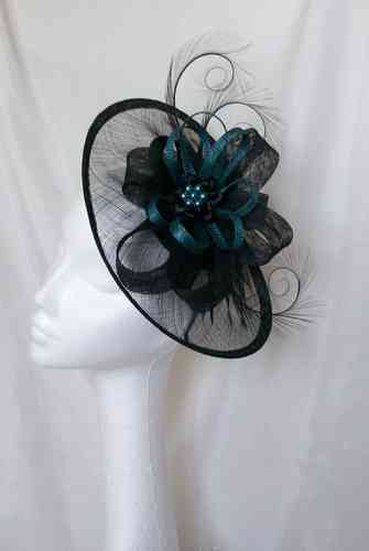 Teal and Black Cecily