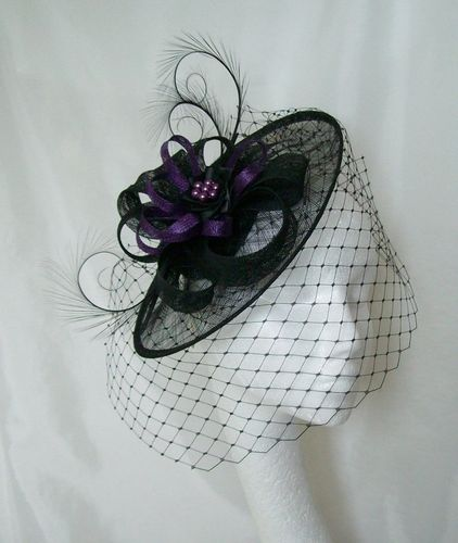 Black and Dark Purple Veiled Cecily