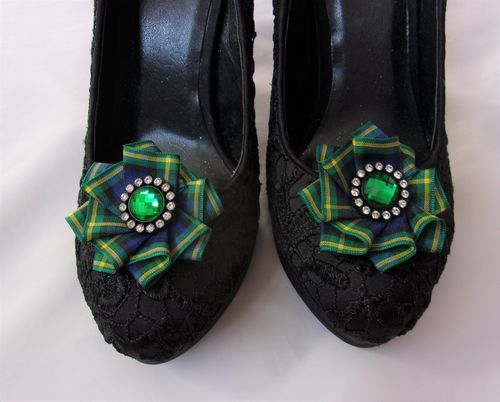Gordon Tartan Shoe Clips