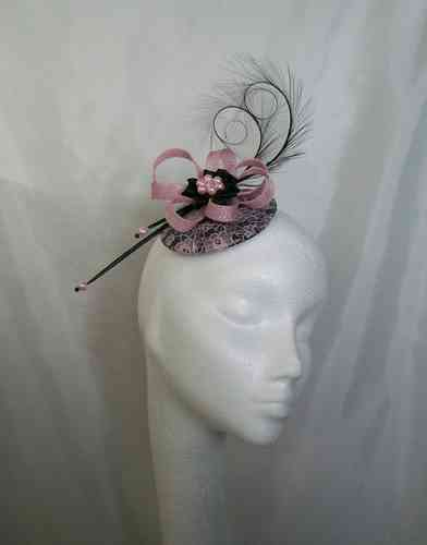 Black and Pale Pink Lace Isadora