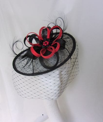 Black & Red Veiled Cecily