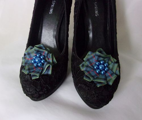 Flower of Scotland Tartan Shoe Clips
