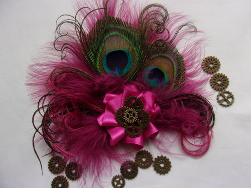 Raspberry Cerise Pink Steampunk Little Gem