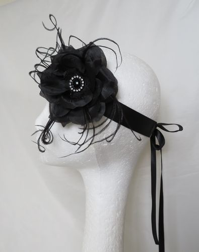 Black Penny Blossom Flapper Band