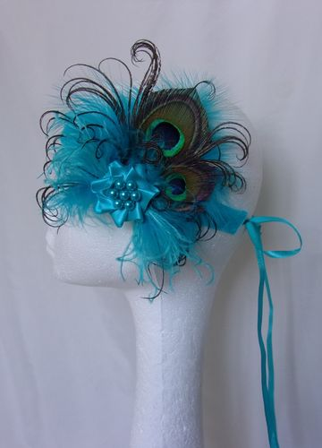 Turquoise Blue Little Gem Flapper Band
