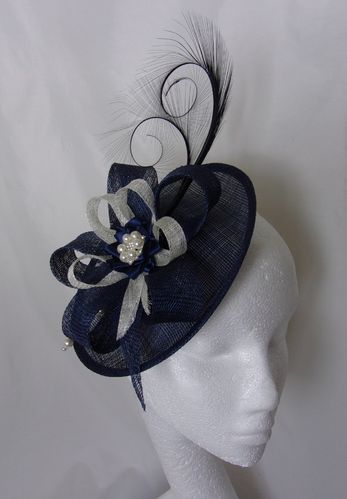 Navy Blue and Ivory Pamela