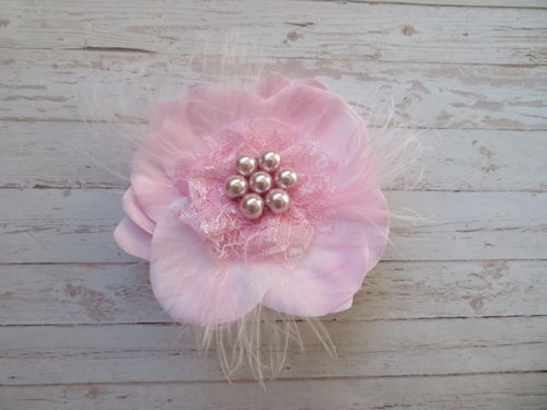 Pale Pink Flower Brooch